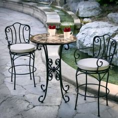 A bistro set. Think this is what Mom really wants for the breakfast nook.