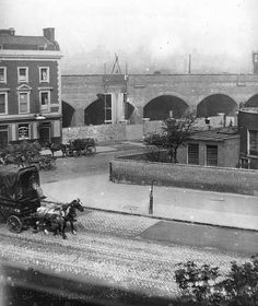 Hercules Road 1848 when the railway arches were brand new.