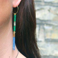 Øreringe med delica perler og headpins. Se blogindlæg for yderligere information.   #krea #diy #lavselvsmykker #diybutik #bryggen #bryggensbutikker #øreringe #earrings #smykker #jewelry #bijou #seedbeads #miyuki #kreoler #smyks #smyks.dk #delica #perler #smykkekursus