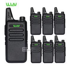 6 unid WLN KD-C1 Profesional Walkie Talkie UHF de Largo Alcance 2 Way Radios Móviles de Mano Jamón CB Radios De Seguridad Comunicador batería