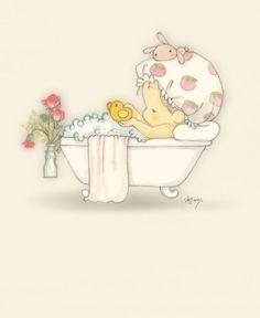 Achei uma graça esse risco do bebê na banheira e também uma boa ideia para tirar os riscos de uma pintura :D Espero que gostem!
