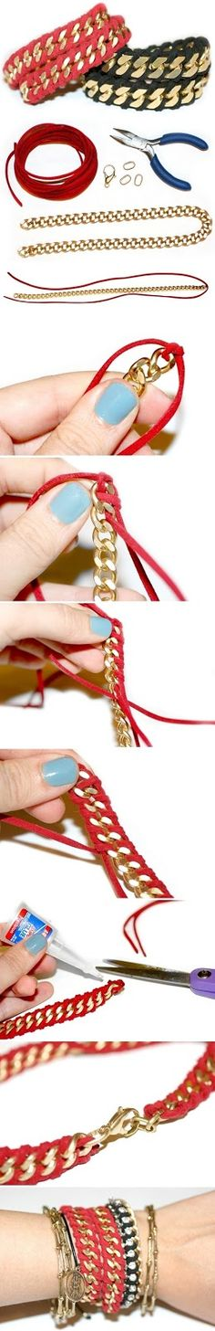 DO IT YOURSELF gold and clothe wrist wear