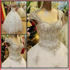 Yz new arrival gorgeous luxurious swarovski crystals bridal wedding dress vsvb
