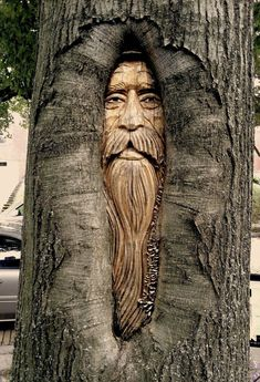 …a wise tree man – Schnitzerei Tree Carving, Wood Carving Art, Nature Verte, Tree Faces, Outdoor Art, Wood Sculpture, Metal Sculptures, Abstract Sculpture, Bronze Sculpture