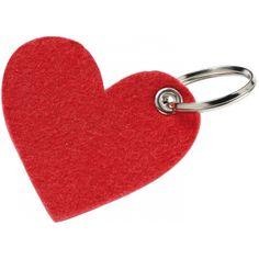 """Filz-Schlüsselanhänger """"Motiv"""", HERZ, rot (rot, Textil) als"""