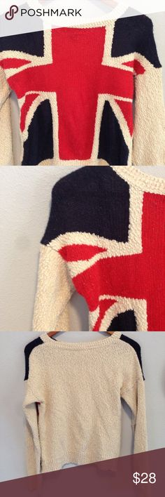 Forever 21 Union Jack Sweater 🇬🇧 Excellent condition! This sweater is tons of fun! 🇬🇧 Forever 21 Sweaters