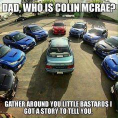 Got the account back! Car Jokes, Truck Memes, Funny Car Memes, Car Humor, Subaru Cars, Subaru Rally, Colin Mcrae, Mechanic Humor, Tuner Cars