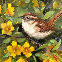 Krista Eaton Gallery of Original Fine Art Bird Paintings On Canvas, Bird Painting Acrylic, Wall Painting Decor, Mini Canvas Art, Bird Artwork, Watercolor Art, Original Paintings, Puzzle Art, Bird Pictures