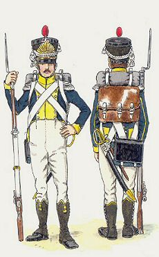 Légion étrangère polonaise de la Vistule, 1807-1812