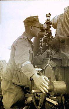German artillery (88mm), in Tunisia 1943.