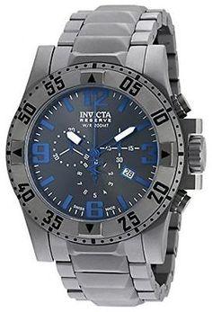 d4afd690644 New Mens Invicta 19775 Reserve Excursion Chronograph Titanium Bracelet Watch