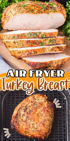 This air fryer turkey breast recipe is so easy - you'll be able to whip up this dish in a fraction of the time it takes in the oven. It has a nice, crispy outside and a moist and juicy inside that will make your mouth water. Pair it with some mashed potatoes and green beans for the perfect Thanksgiving meal!