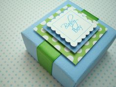 Personalized Baby Boy Favor Boxes, Set of Ten