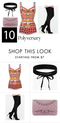 """Celebrate Our 10th Polyversary!"" by alexis1501 on Polyvore featuring Dolce&Gabbana, Boohoo, Chanel, polyversary and contestentry"
