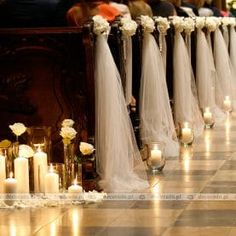Church Aisle Decorations, Quince Decorations, Florals, Wedding Flowers, Weddings, Projects, Home Decor, Vestidos, Wedding Tables