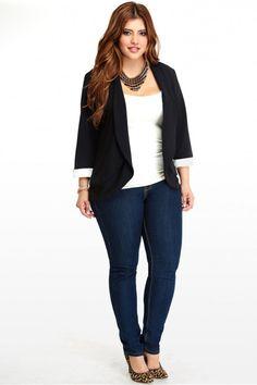 Plus Size Tuxedo Blazer | Fashion To Figure