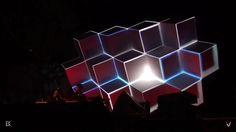 Live video mapping onto cubes @ Time Warp Holland, 2011