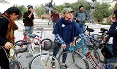 Young Iraqi woman in taboo-breaking bike ride