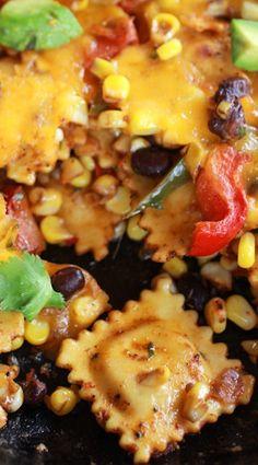 Quick + Easy southwest Ravioli Skillet Pasta