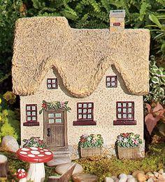 Resin Fairy Cottage With Garden Accent | Garden Fairies U0026 Gnomes