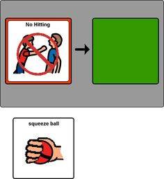 """No Touching..."" This website has all kinds of picture messages for kids who need visuals!"