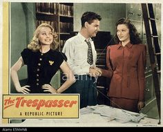 The Trespasser (1947).  Librarians working for the Evening Gazette prove that a rare book is a forgery.
