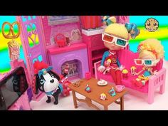 Cutie Pops Doll Starr & Pet Dog Popcorn 3D Movie Loving Playset with Shopkins Shoppies Popette - YouTube