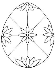 Pysanky Ukrainian Easter Egg Coloring Page Easter Pinterest