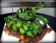 Party planners can make an Army-themed cake for a child's or   military…