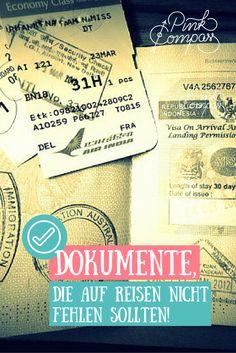 Hast Du alle Dokumente parat für Deine Reise?  #frauenreisensolo