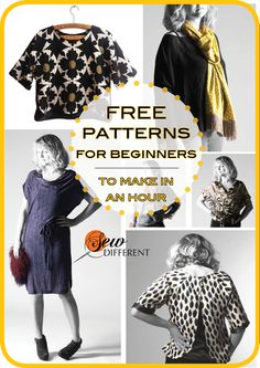 EASY sewing patterns for women perfect for beginners like myself. There are no tricky zips or buttons. PDF download. I have made the first 2 in less than a couple of hours! Love them!