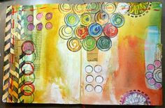 Julie says all you need is 10 minutes a day to work in a journal. Don't have to finish each layout each day, just work for as much time as you have and add one element - finish a double page per week....her blog is filled with inspiration!   balzerdesigns.typepad.com