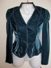 NEW Calvin Klein Blue Corduroy Jacket Blazer Stand-Up Collar Tailored Size 2