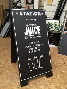 juice bar chalk board - Google Search