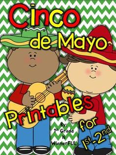 Freebie in the Preview!  Cinco de Mayo Printables for 1st-2nd grades!!! Updated 4/6/14 :o)  Check it out!