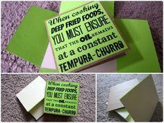 Blank Note Card - Churro