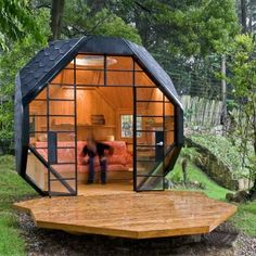 We have all the top trends and garden ideas for 2021, to give you inspiration for designing and making the most of your outdoor space. Backyard Treehouse, Backyard Cottage, Playhouse Outdoor, Playhouse Plans, Tiny House Design, Cool House Designs, Camping Pod, Planet Design, Building A Cabin