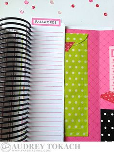 Passwords List by Audrey Tokach for Papertrey Ink (August 2015)
