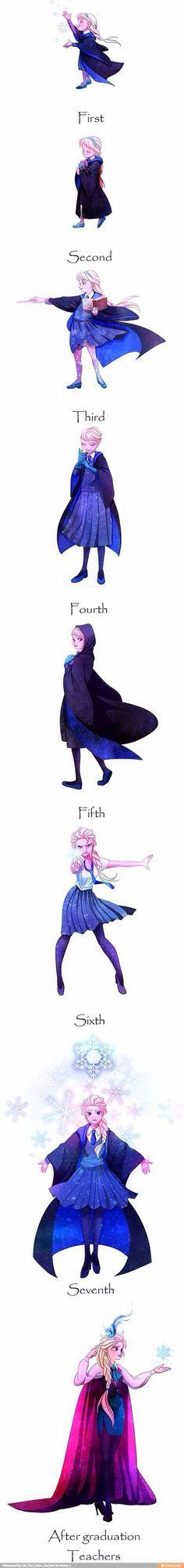 Elsa en mode Poudlard !