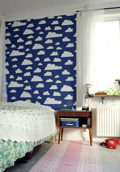 Self adhesive vinyl temporary removable wallpaper wall by Betapet, $36.00