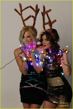 Lucy Hale & Ashley Benson: Holiday Bongo Shoot
