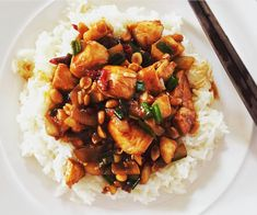 Meat Recipes, Asian Recipes, Chicken Recipes, Ethnic Recipes, Bao, Kung Pao Chicken, Main Dishes, Food And Drink, Tasty