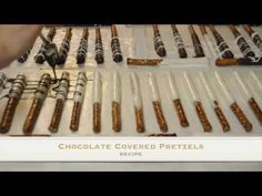 YouTube Chocolate Covered Pretzels Recipe, How To Temper Chocolate, Pretzel Rods, Delicious Chocolate, Craft Videos, Tempering Chocolate, Good Food, Fun Recipes, Decorations