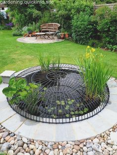 safety cover from Creative Pond Covers Ltd.,Pond safety cover from Creative Pond Covers Ltd., 3 Bed Craftsman Style Ranch Home Plan - Patio Pond, Pond Landscaping, Ponds Backyard, Outdoor Ponds, Outdoor Gardens, Pond Covers, Garden Pond Design, Goldfish Pond, Turtle Pond