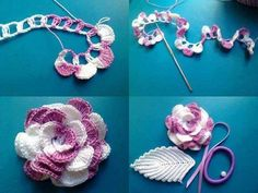 You should start making this beautiful flower web free crochet yarns with a multiple number of four...