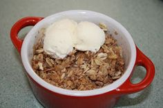 Microwave Apple Crisp for One | Fruit Share
