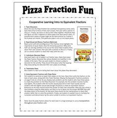 FREE Pizza Fraction Fun (Equivalent Fractions) - Laura Candler - TeachersPayTeachers.com