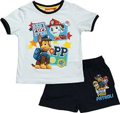 66fdc9a398 Paw Patrol Boys Best Pups Short Sleeve Pyjama Set By BestTrend: Amazon.co.uk:  Clothing