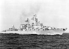 Soviet Navy guided missile cruiser Slava