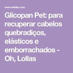 Glicopan Pet: para recuperar cabelos quebradiços, elásticos e emborrachados - Oh, Lollas